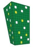 design green perspective squares Στοκ φωτογραφία με δικαίωμα ελεύθερης χρήσης