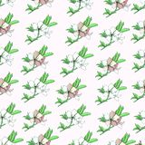 Floral background of delicate watercolor flowers. vector illustration
