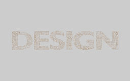 Design Grey Brown. Words representing the meanng, intention and relation of the word Design. Free for own interpretation Royalty Free Stock Photography