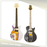 Design Guitar Case Fox Royalty Free Stock Photo