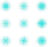 Design halftone circle cell element. Abstract water molecule vector logo template set.You can use in the media, mobile, water ,biology, chemistry, science and Stock Photo