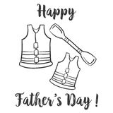 Design hand draw father day celebration. Vector art Stock Photography