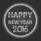 Design 1 happy new year 2016 Royalty Free Stock Photography