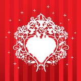 Design with heart and roses Royalty Free Stock Image
