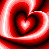 Design heart swirl rotation illusion background Stock Photos