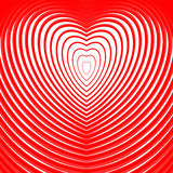 Design heart twisting movement illusion background Stock Photo