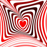 Design heart twisting movement illusion background Royalty Free Stock Images