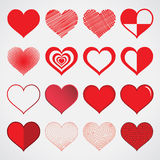Design heart vector isolate on white Stock Photo