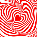 Design heart whirl illusion background Royalty Free Stock Image