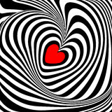Design heart whirl illusion background Stock Photos