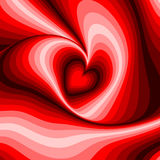 Design heart whirl rotation illusion background Stock Image