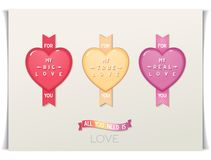 Design hearts icon with message love Royalty Free Stock Photography