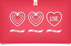 Design hearts icon with message love Royalty Free Stock Image