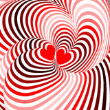 Design hearts twisting movement background Royalty Free Stock Photos