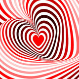 Design hearts twisting movement background Stock Image