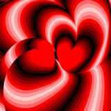 Design hearts twisting movement illusion background Royalty Free Stock Image