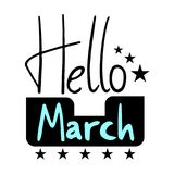 Hello March symbol. Design of Hello March symbol Stock Images