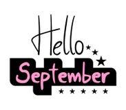Hello September symbol. Design of hello September symbol Royalty Free Stock Image