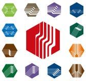 Design hexagon vector logo template Stock Image
