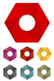 Design hexagonal logo element. Stock Photo