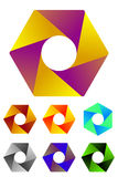 Design hexagonal logo element. Stock Images