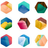 Design hexagonal  logo template Royalty Free Stock Photos