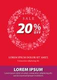 Design-Hintergrund für Förderungs-Verkauf 20 Prozent Lizenzfreie Stockbilder