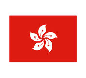 Hong Kong flag design. Design of Hong Kong flag Stock Image