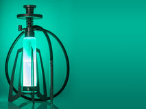 Design hookah on green background Royalty Free Stock Photos