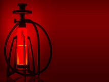 Design hookah on red background Royalty Free Stock Photography