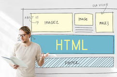 Design HTML Web Design Template Concept.  Royalty Free Stock Photo