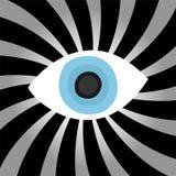 Hypnosis eye. Design of hypnosis eye illustration vector illustration