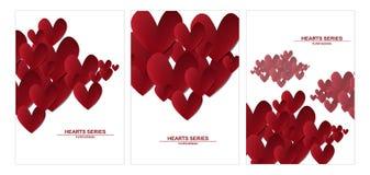 Design I för hjärta för vektorillustrationpapper fastställd Arkivbild