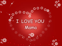 Design of I love mama  -design Royalty Free Stock Photos