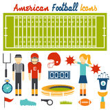 design icons of american football Stock Image