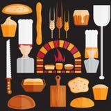 design icons of bakery theme Royalty Free Stock Image