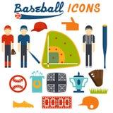 Design icons of baseball Stock Image