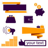 Design icons for business and finance. Vector illustration Royalty Free Stock Image