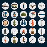 design icons of fishing and hunting theme Stock Images