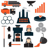 Design icons of metallurgy industry Stock Photography