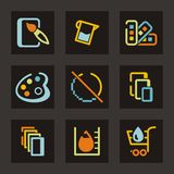 Design Icons Set Stock Image