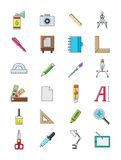 Design icons set. Set of 24 design icons Royalty Free Stock Images