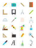 Design  icons set. Set of 24 design  icons Royalty Free Stock Photos