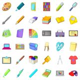 Design icons set, cartoon style. Design icons set. Cartoon style of 36 design vector icons for web isolated on white background Royalty Free Stock Photography