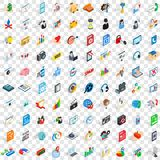 100 design icons set, isometric 3d style. 100 design icons set in isometric 3d style for any design vector illustration Stock Images