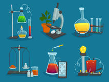 Design  Icons Set Of  Laboratory Equipment Stock Photo