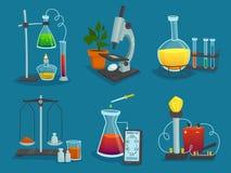 Design  Icons Set Of  Laboratory Equipment Stock Photo