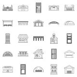 Design icons set, outline style Royalty Free Stock Images