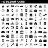100 design icons set, simple style. 100 design icons set in simple style for any design illustration royalty free illustration