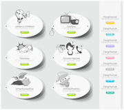 Design icons set with stickers Royalty Free Stock Photo